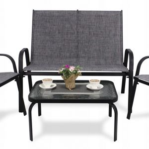 A set of garden furniture – sofa + table + chairs